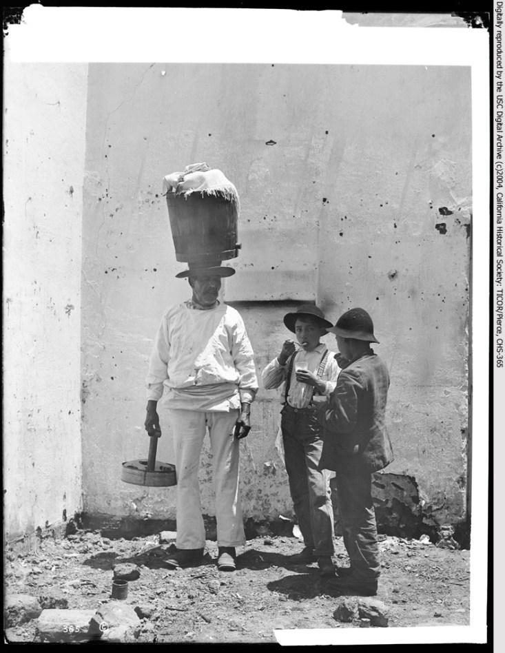 Ice cream vendor (Sonoratown), Los Angeles, 1890