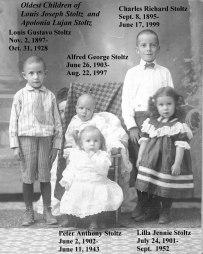 "Children of Ludwig Josef ""Louis"" Stoltz (1866-1958) and Apolonia Luján (1872-1929)"