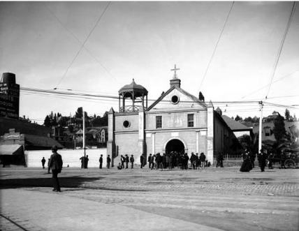 The Plaza Church of Our Lady of the Angels, Los Angeles, 1900
