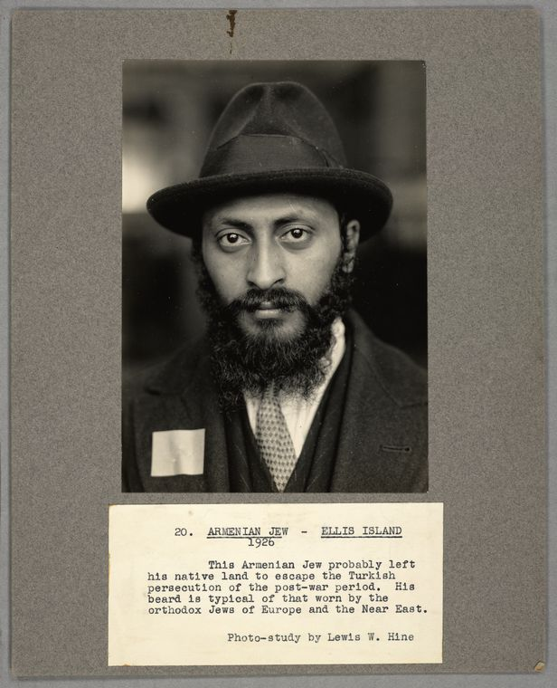 Image of male Jewish Ellis Island Imigrant, 1926, courtesy of NYPL Digital Collections