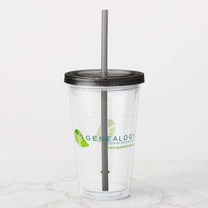 Genealogy Adventures Live! Acrylic Tumbler