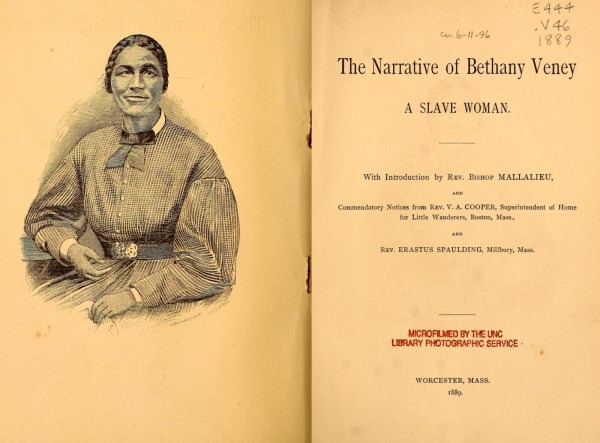 The Narrative of Bethany Veney: A Slave Woman. front cover