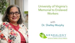 University of Virgini'a sMmeorial to Enslaved Workers Project with Dr Shelley Murphy image