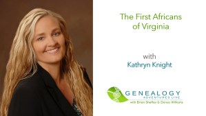 The first Africans of Virginia with Kathryn Knight image