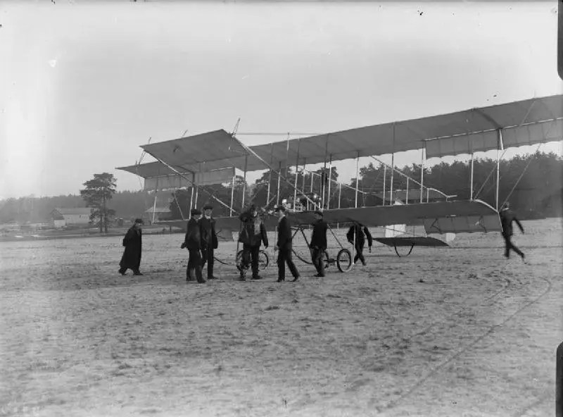 Maurice Farman Biplane, a part of the WWI Family History for the Pither