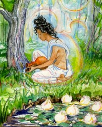 Sacred India Tarot lotuses parvati waters trees