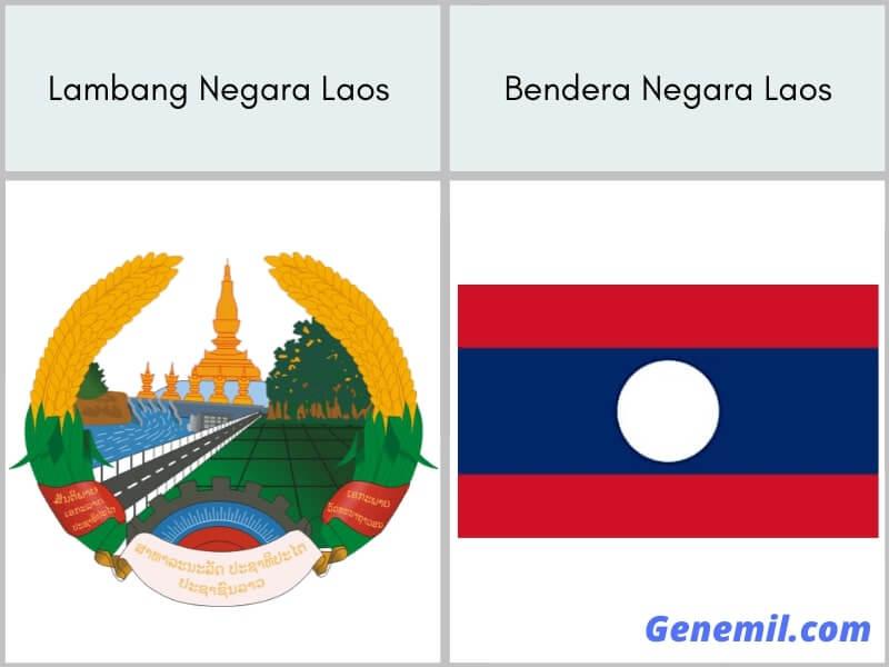 lambang negara dan bendera laos