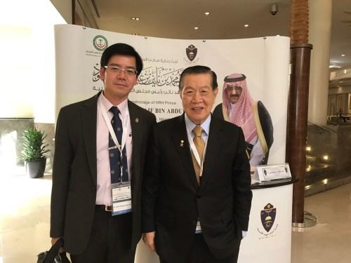 李承龍博士和李昌鈺博士一起出席今年 3 月初在沙烏地阿拉伯利雅德舉辦之國際鑑識科學研討會,發表論文。(來源:李承龍博士提供。)