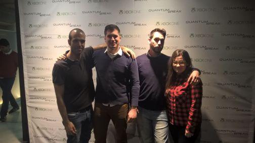 Fran Relay, Pedro del Pozo, Jose Angel Martínez y @Anaexmu sobre el cartel del juego