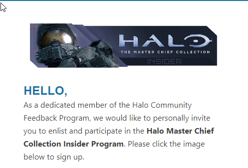 343i empieza a enviar las invitaciones al programa insider de Halo The Master Chief Collection