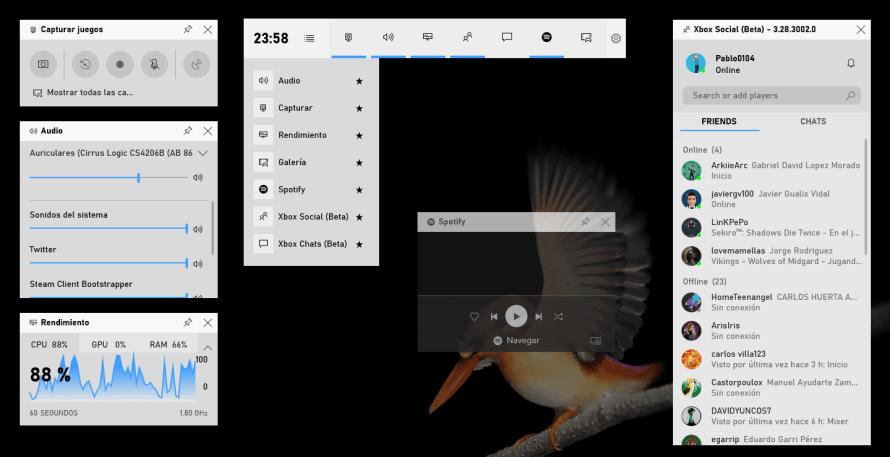 Spotify en la Barra de Juegos de Windows 10