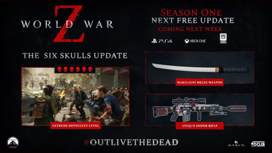 World War Z: llega la actualización The Six Skulls
