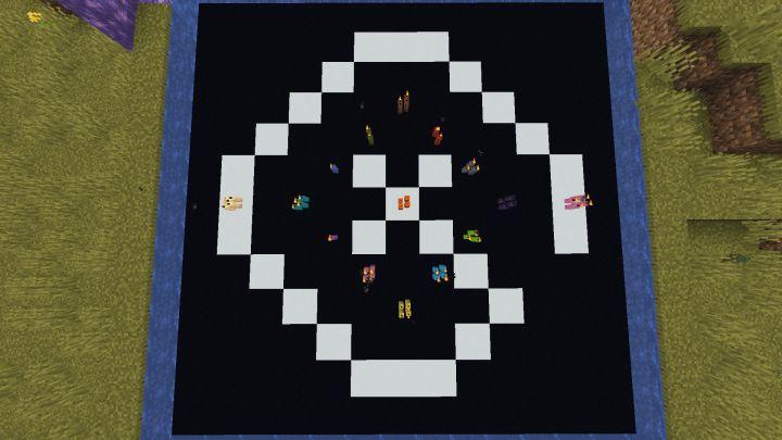Logo de GX con velas en Minecraft 1.17 con la Snapshot 20W45A