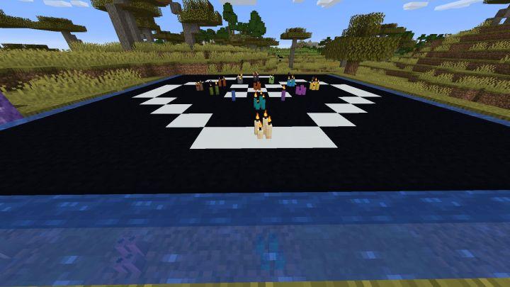 Velas bajo el agua en Minecraft 1.17 con la Snapshot 20W45A