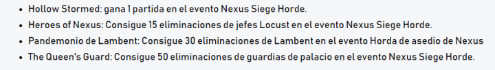 Juega al evento de Nexus Siege de Gears 5 y consigue recompensas
