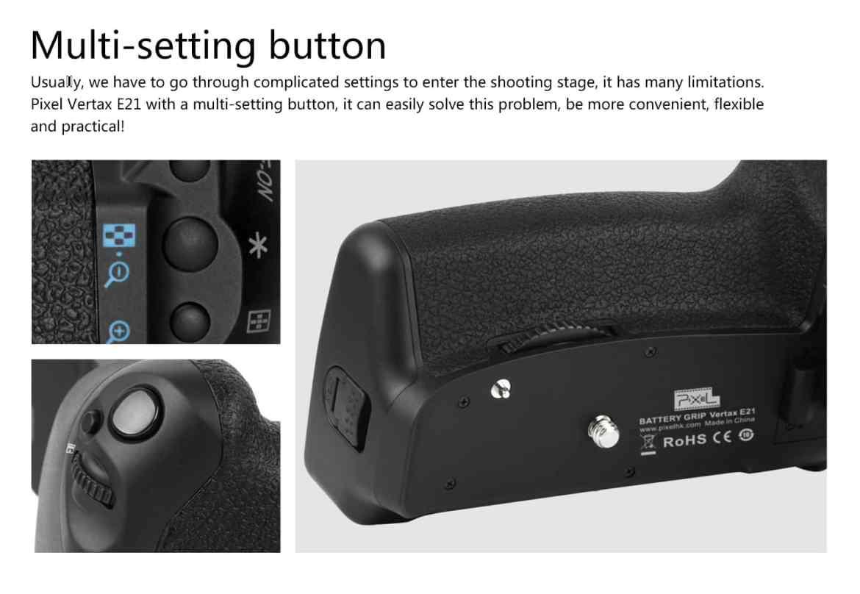 vertax e21 for canon 6dii Vertax E21 For Canon 6DII Battery Grip battery grip Vertax E21 For Canon 6DII mark 2 Pixel E6N battery 9