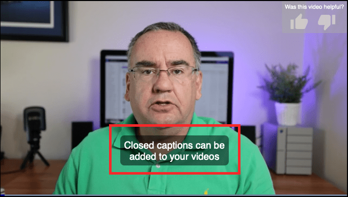 Overview: Adding Captions to a Video