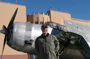 Fantasy of Flight founder Kermit Weeks with the TBM Avenger.