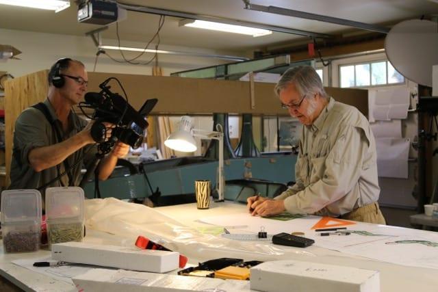 Producer Scott B and Burt Rutan