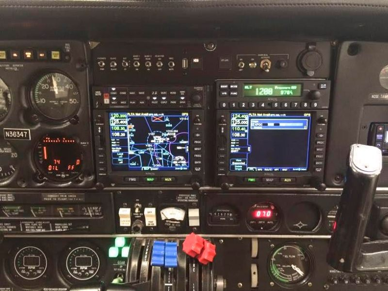 California flight instructor Richard Sears installed dual Avidyne IFD540s in his Seneca because he likes their software logic, FMS and versatility.