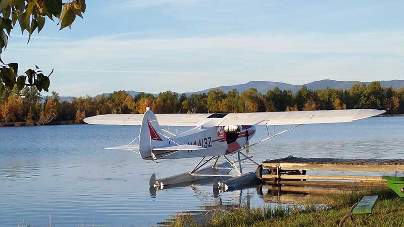 Backcountry Flying Experience's PA-18 Super Cub on Edo 2000 floats
