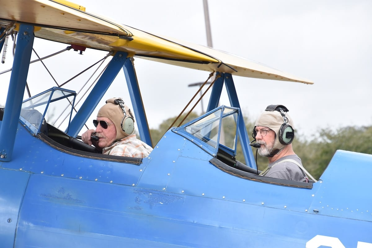 Jamie Beckett in Tim Preston Boeing PT-17 Stearman for Jamie's Flight Review.