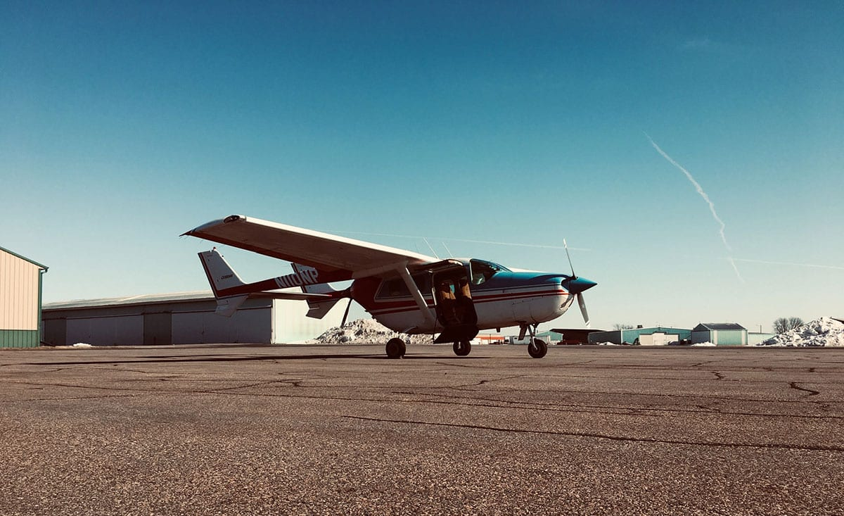 Cessna 337 Skymaster on airport