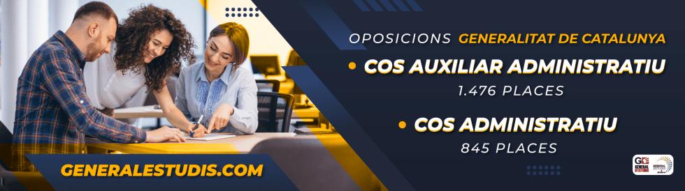 Oposicions Cos Auxiliar Administratiu i Cos Administratiu