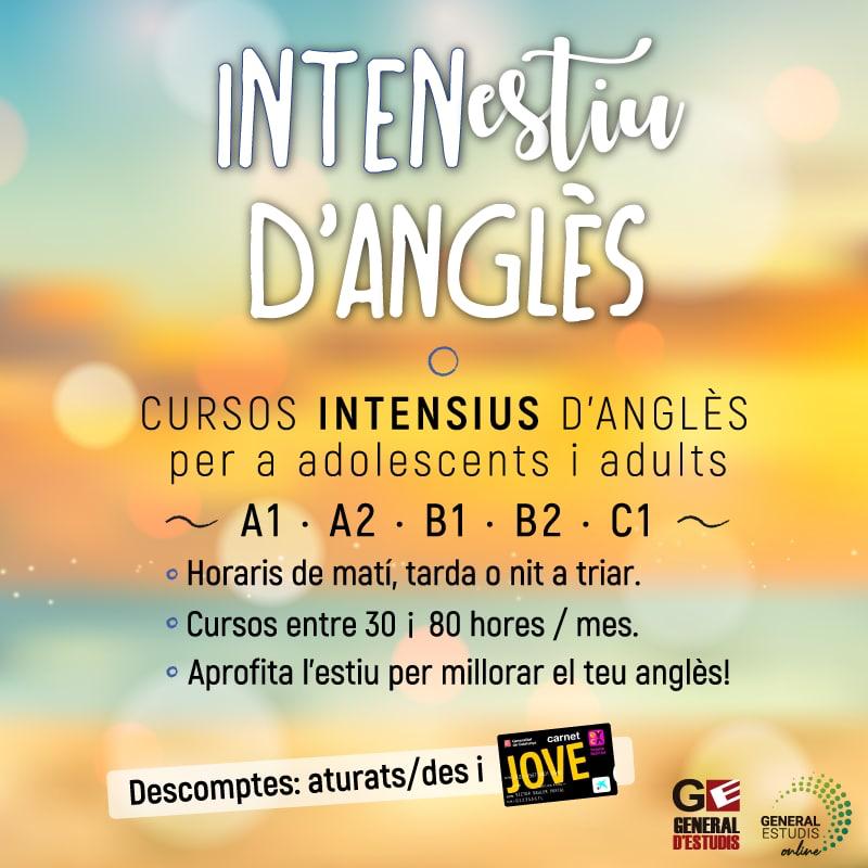 CURSOS INTENSIUS ANGLÈS