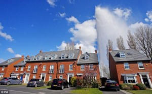 pressure causing water main burst