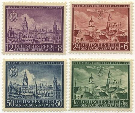 Seria 92-95 1942, 15 sierpnia. Wydanie z okazji 600-lecia Lublina