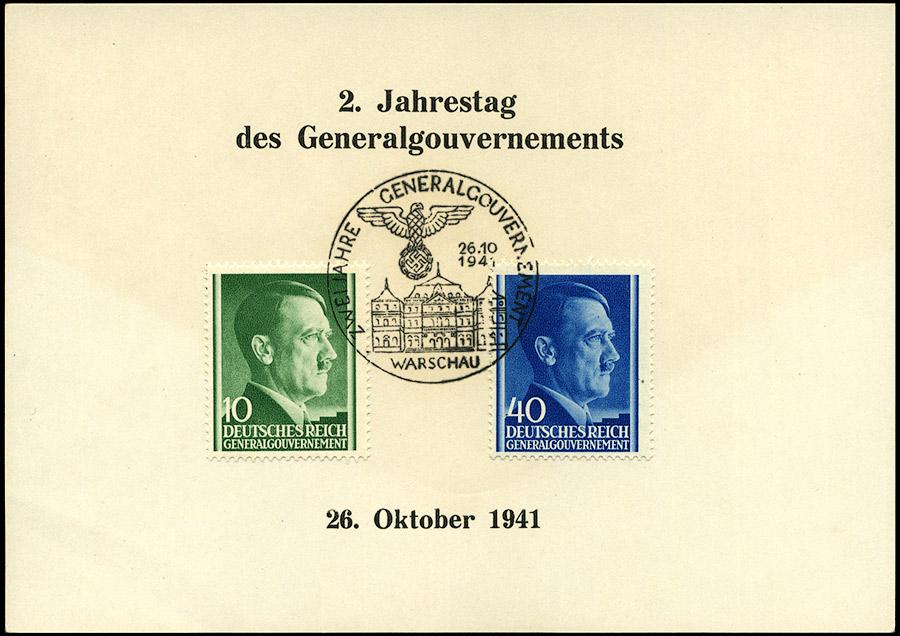 Kasownik 18 Zwei Jahre Generalgouvernement 26. 10. 1941 Warschau