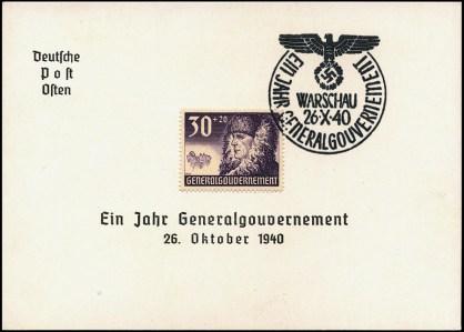 Kasownik 6B Warschau -Ein Jahr Generalgouvernement 26 X 40