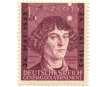 Znaczek 104 1943, 24 maja. Wydanie z okazji 400-lecia śmierci Mikołaja Kopernika