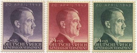 Seria 101-103 1943, 10 kwietnia. Wydanie z okazji 54 rocznicy urodzin Hitlera