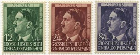 Seria 117-119 1944, 20 kwietnia. Seria z okazji 55 rocznicy urodzin Hitlera
