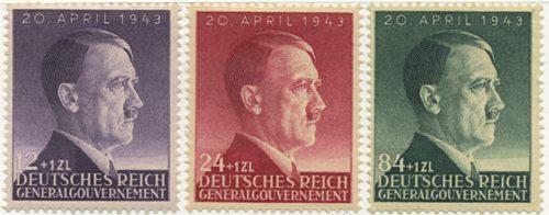 Znaczki GG Seria Fi. 101-103 1943 r. czyste * MH-0