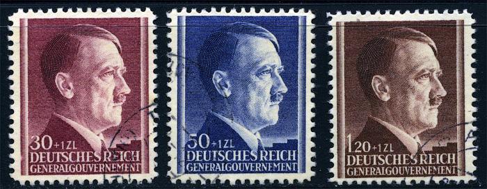 Znaczki GG Seria Fi. 89-91 1942 r. kasowane-936