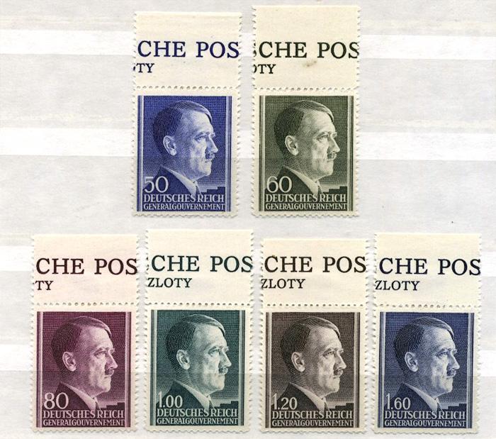 Seria Fi. 83-88 1942 r. z przywieszkami czyste ** MNH-0