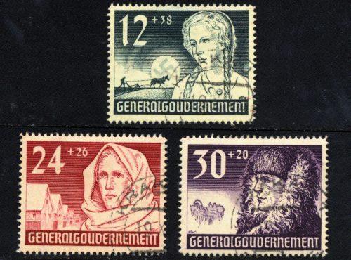 Seria Fi. 56-58 1940 r. kasowane KRAKAU-0