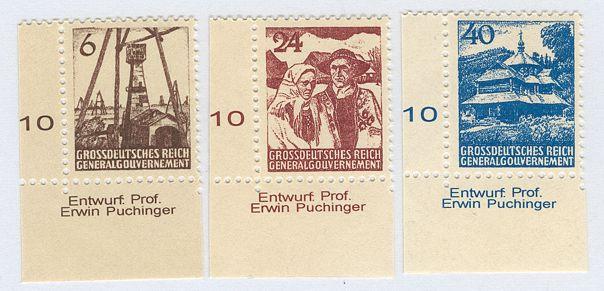 Fałszywa seria niewprowadzonych do obiegu znaczków Generalnego Gubernatorstwa - Górale