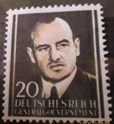 Falszywy znaczek z Hansem Frankiem