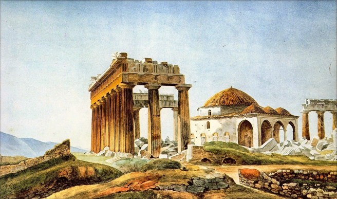 Parthenon and mosque