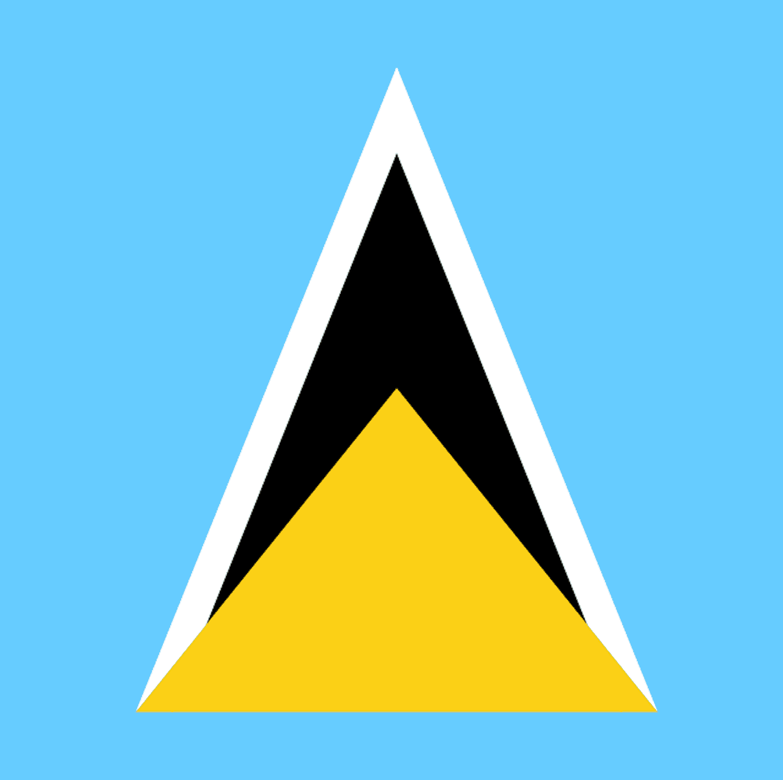 Saint Lucia Flag Coloring Pages