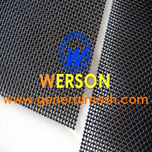 black stainless steel security mesh