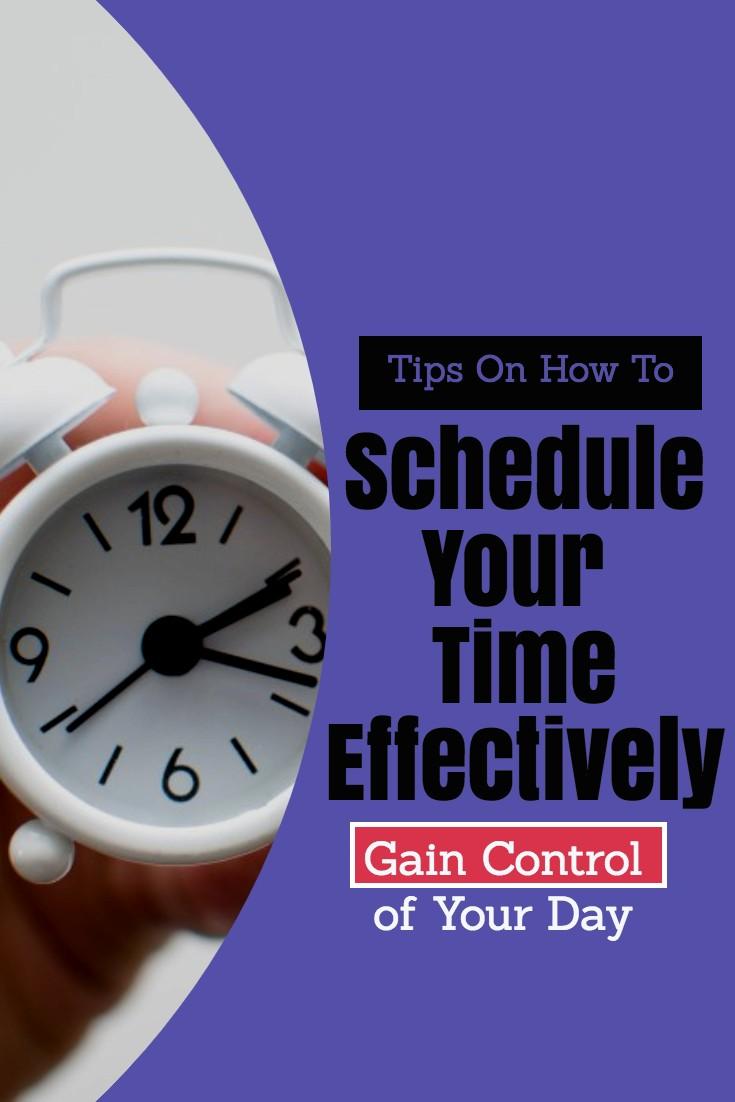 scheduleyourtimeeffectively