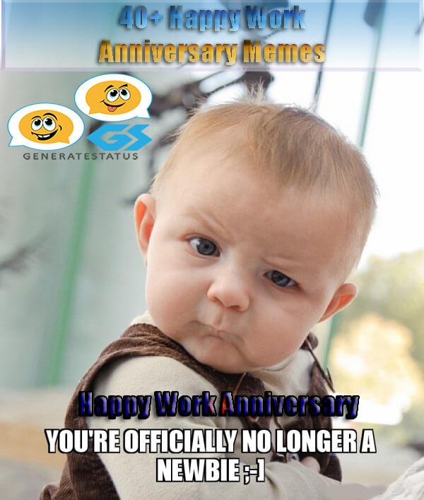 Happy Work Anniversary Meme To Make Them Laugh Madly