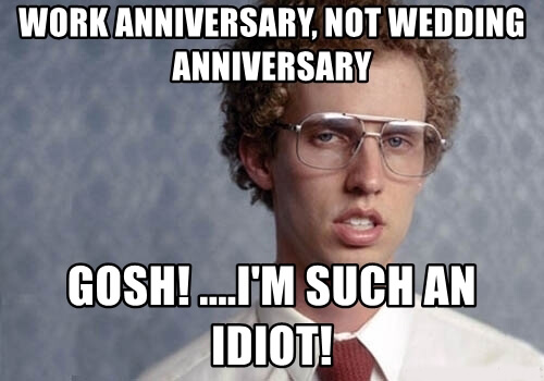 Happy Work Anniversary Meme To Make Them Laugh Madly