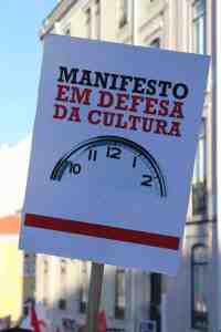Lisbonne Manif Defesa cultura