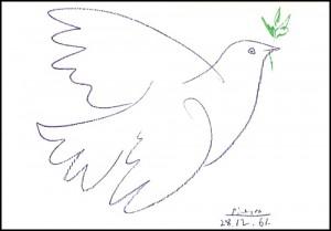 Colombe de la paix par Picasso